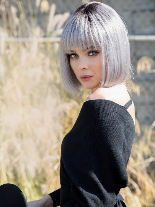 NICO by RENE OF PARIS in SMOKY-GRAY-R | Medium gray with silver highlights and blue undertones with dark roots