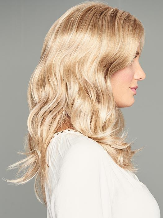 Lace front monofilament center part allows for off-the-face styling and gives the overall silhouette a contemporary edge
