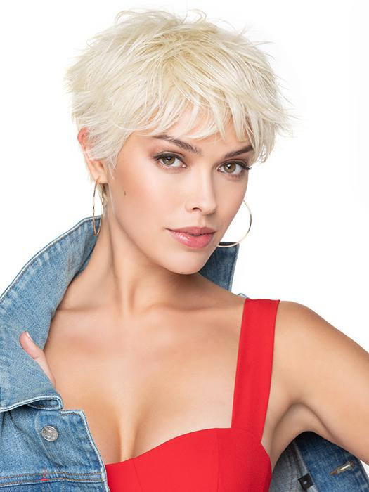BRUSHED PIXIE by TressAllure in 23R | Platinum Blonde