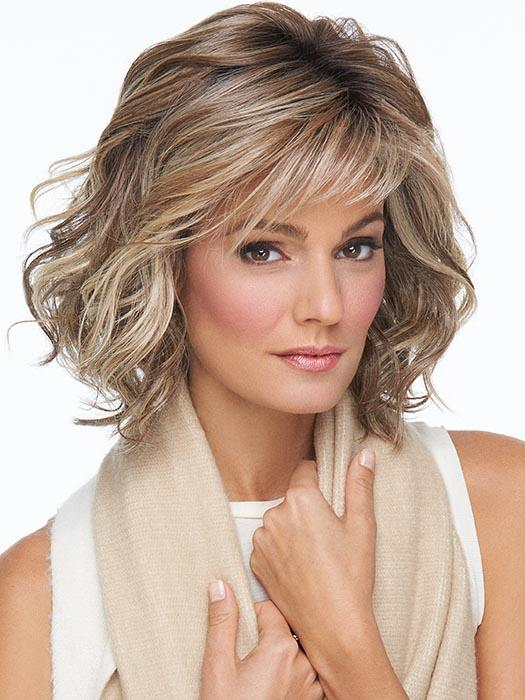 EDITOR'S PICK ELITE by RAQUEL WELCH in RL12/22SS SHADED CAPPUCCINO | Light Golden Brown Evenly Blended with Cool Platinum Blonde Highlights with Dark Roots