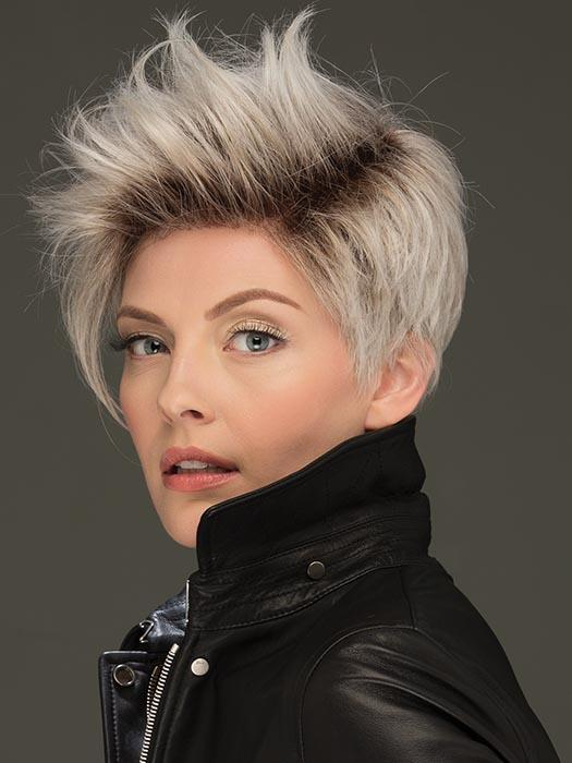 JETT by ESTETICA in SILVERSUNRT8 | ICED BLONDE WITH SOFT SAND & GOLDEN BROWN ROOTS