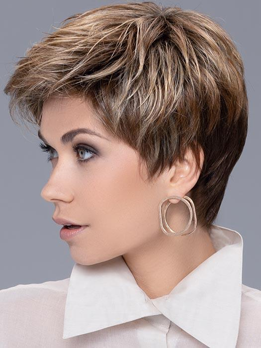 The additional length on top and crown area allow for added fullness or versatile styling