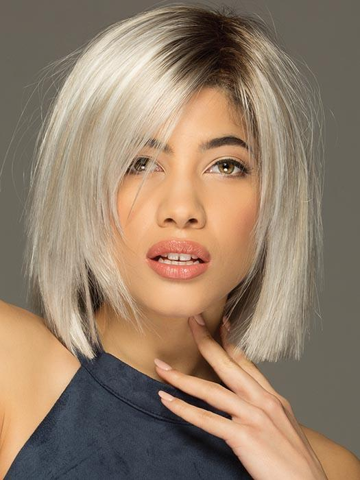 ELLIS by ESTETICA in SILVERSUNRT8 | ICED BLONDE WITH SOFT SAND & GOLDEN BROWN ROOTS