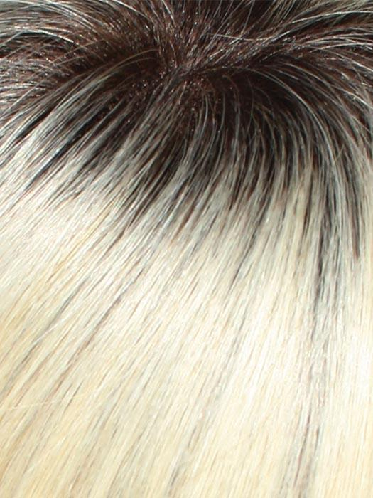 613/102S8 | Pale Natural Gold Blonde and Pale Platinum Blonde Blend, Shaded with Med Brown