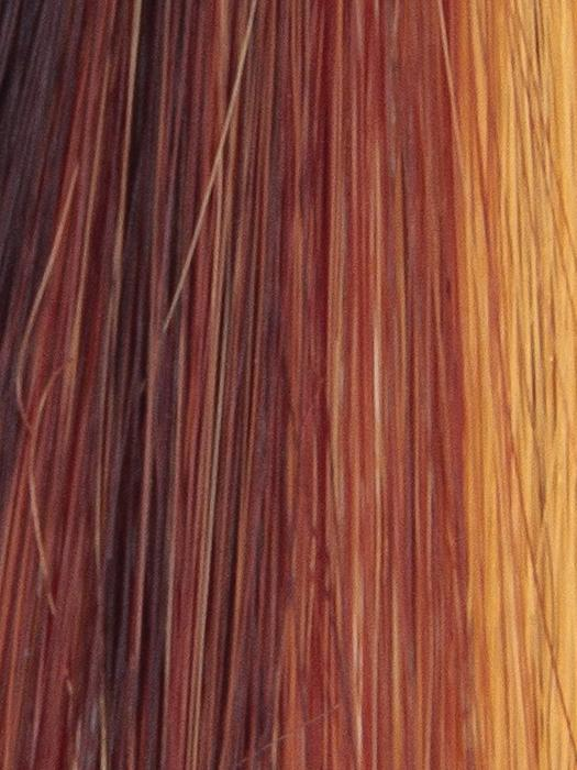 SUNSET-GLOW | Dark Red and Blonde blend