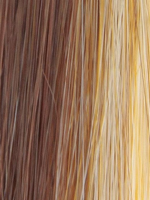 SUGAR-BRULEE | Medium Auburn with shadowed roots and Butterscotch highlights