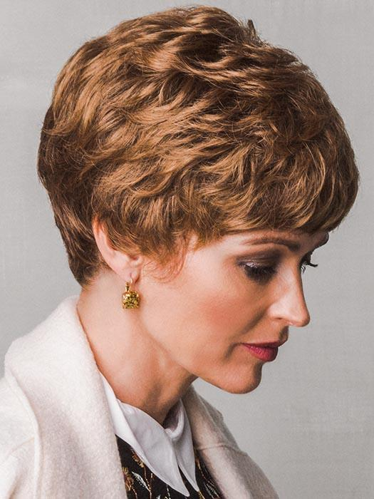 A short pixie cut with lots of top layering for added volume and texture