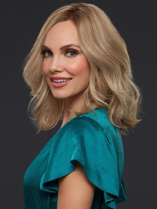 Blonde Human Hair Lace Front Wig CARRIE by JON RENAU in 12FS12 MALIBU BLONDE