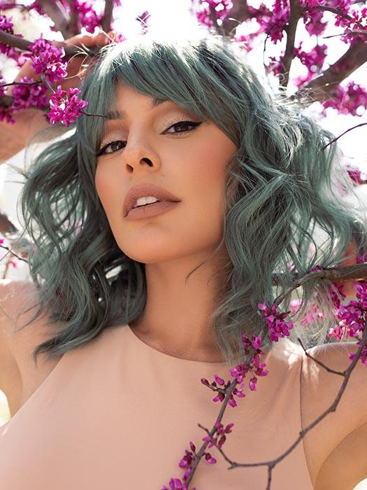 BREEZY WAVEZ by RENE OF PARIS in SMOKY-FOREST | Forest Green Base with Off-Black Roots