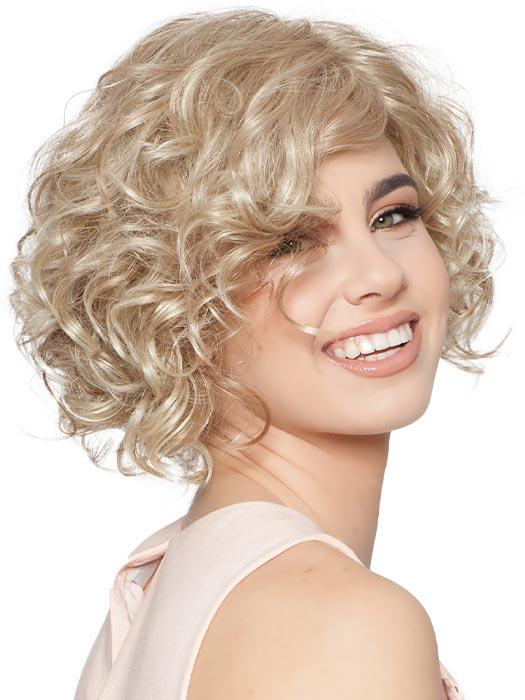 Heidi by Wig Pro is a classic look with a chin-length layered bob with tighter curls