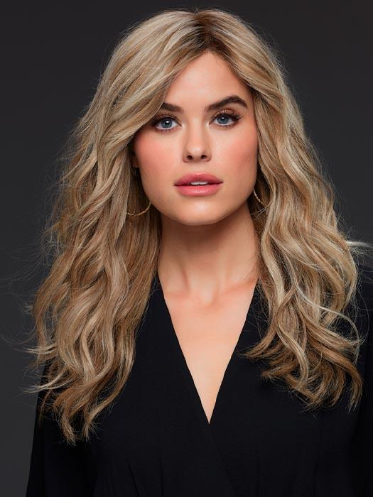 ANGIE by Jon Renau in 12FS12 MALIBU BLONDE | Light Gold Brown, Light Natural Gold Blonde, and Pale Natural Gold-Blonde Blend, Shaded with Light Gold Brown