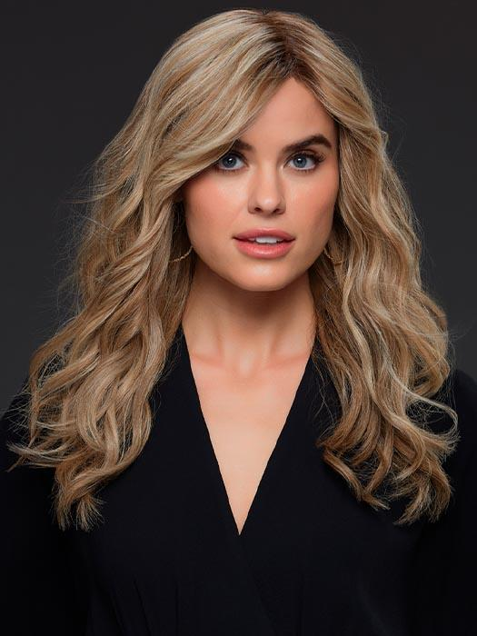 ANGIE by JON RENAU IN 12FS12 MALIBU BLONDE | Lt Gold Brown, Lt Natural Gold Blonde & Pale Natural Gold-Blonde Blend, Shaded w/ Lt Gold Brown