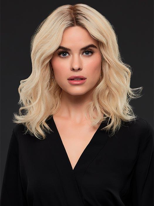 MARGOT by JON RENAU in FS24/102S12 LAGUNA BLONDE | Light Natural Gold Blonde with Pale Natural Gold Blonde bold highlights, Shaded with Light Gold Brown