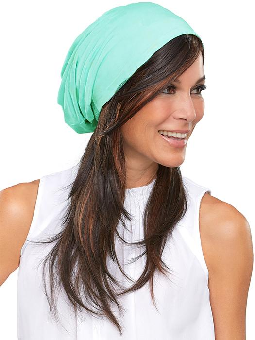 THE SOFTIED BOHO BEANIE SOLID by Jon Renau in CARIBBEAN