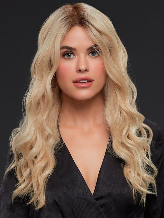 BLAKE by JON RENAU in FS24/102S12 LAGUNA BLONDE | Lt Gold Brown w/ Pale Natural Gold Blonde Blend, Shaded w/ Med Brown