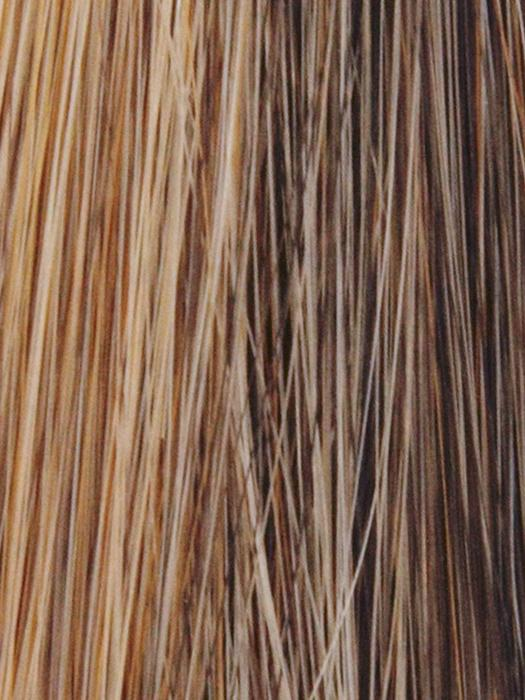 MOCHA-GOLD | Medium Brown blended and tipped with Medium Gold Blonde