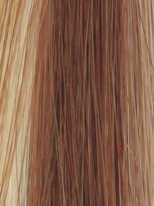 MISTY-SUNRISE | Gold Blonde and Light Blonde blend with Medium Auburn highlights