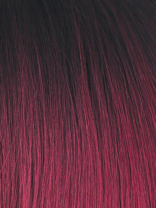 PLUM-DANDY | Blend of Burgundy and Subtle Plum with Dark Brown Roots