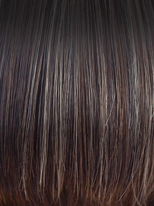 CHOCOLATE-FROST-R | Dark Brown Base with Honey Blonde and Platinum highlights with Dark Brown roots