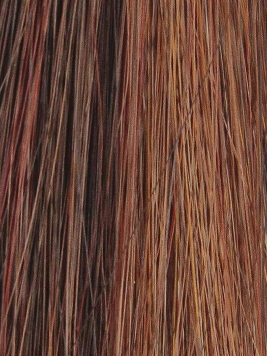 ENGLISH-TEA-HL | Dark Brown with Bright Red and Strawberry highlights
