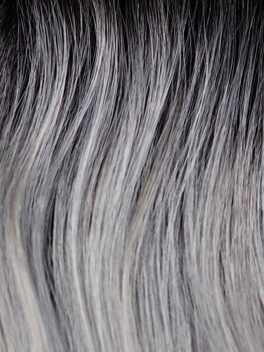 MOONSTONE | Medium Gray with Blue-toned Silver highlights and Dark Roots