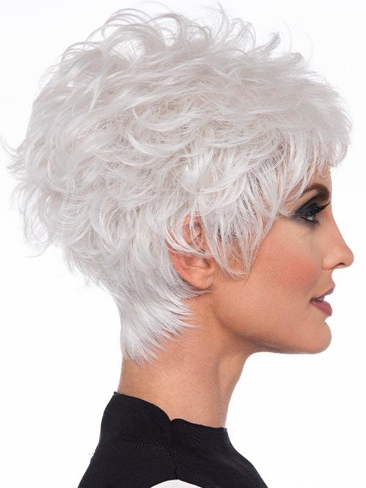 Texture rules the day with this modern play on the classic nape-hugging pixie