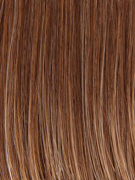 CHOCOLATE-SWIRL | Medium Brown blended with Medium Auburn and Dark Gold Blonde