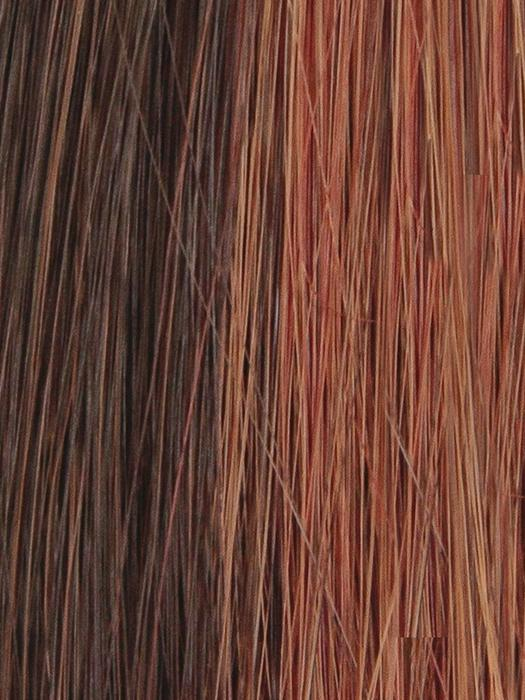 CHERRYWOOD-HL | Dark Brown with Medium Bright Red highlights