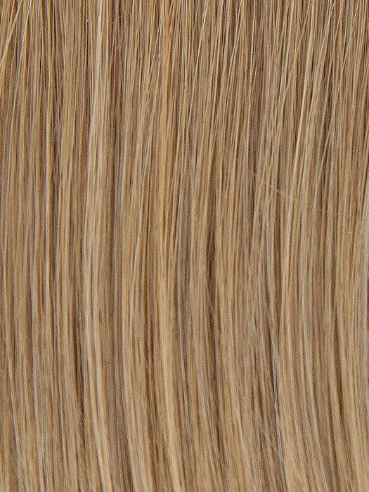 CHAMPAGE-HL | Light Red Brown with Dark Brown roots and Pale Blonde highlights
