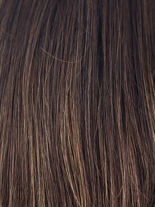 COFFEE-LATTE-R | Dark Brown with Evenly Blended Honey Brown Highlights with Dark Brown roots