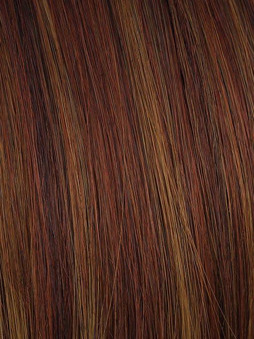 CINNAMON-SWIRL | Dark Red Based with Chocolate Brown and Dark Blondes Highlights