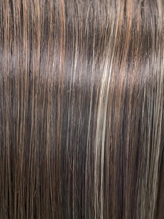 CHOCOLATE SWIRL | Dark Brown Base with Light Auburn and Honey Blonde evenly highlited.