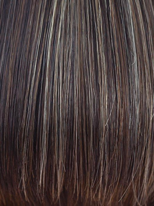 CHOC FROST R | Rooted Dark with a Dark Brown Base with Honey Blonde and Platinum highlights