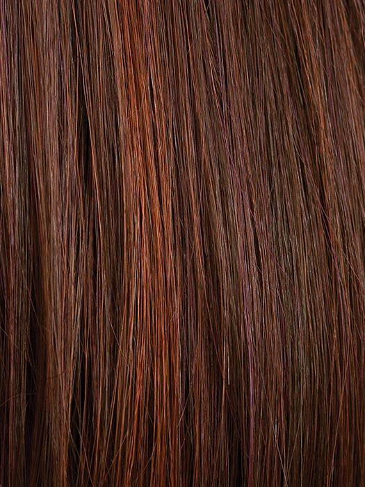 CHERRY-COLA | Dark Auburn base color with brighter Red chunk highlights