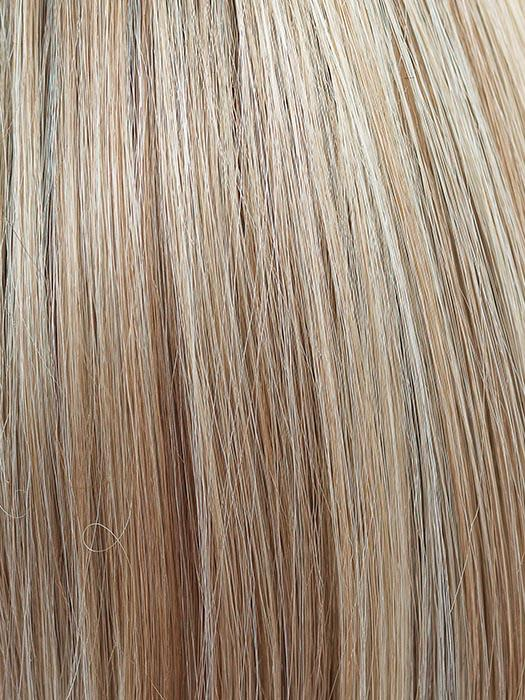 CHAMPAGNE-BLUSH | Creamy White Blonde Base transitioning to Strawberry Blonde with Light Auburn highlights