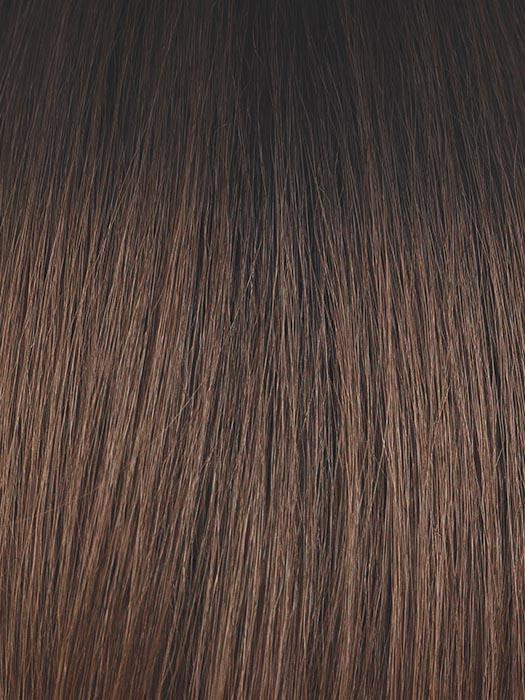 CAFE-OLE | Dark brown with Light Brown Blended Highlights and a Darker Brown Root