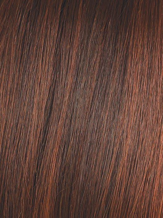 BURNT-CHILI | Dark Brown with Copper Red, Rusty Red, and Cherry Red Blended Highlights