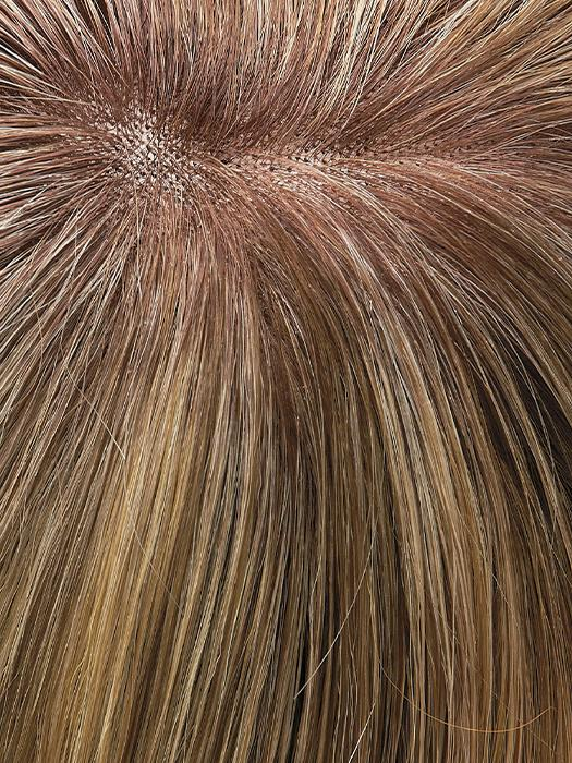 12FS8 SHADED PRALINE Medium Natural Gold Blonde, Light Gold Blonde, Pale Natural Blonde Blend, Shaded with Dark Brown