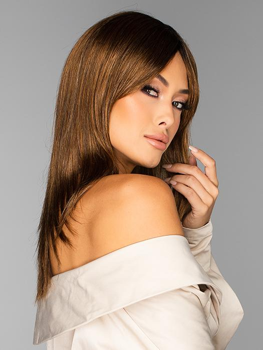 Trending Tresses by Gabor in GL8-29SS HAZELNUT | Coffee Brown with soft Ginger highlights