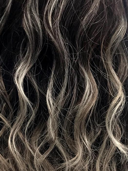 AMERICANO | Dark Brown Base with Medium Golden Brown, Pale Blonde, and Platinum Blonde Highlights
