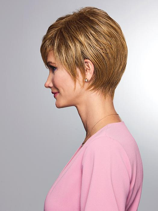 This style can be worn close to the head or loosely tousled for a fuller look