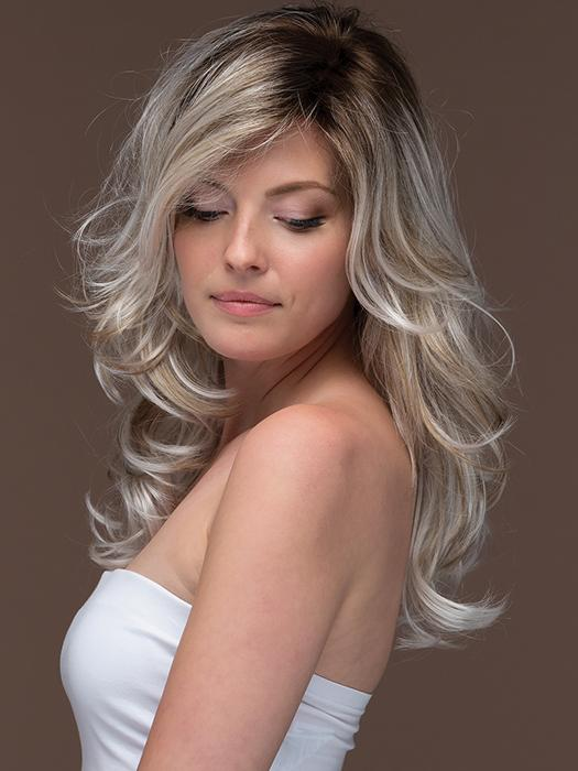 ORCHID by ESTETICA in VANILLA-MACCHIATO | Light Chestnut Brown Base with Light Brown, Golden Blonde, and Icy Blonde Highlights