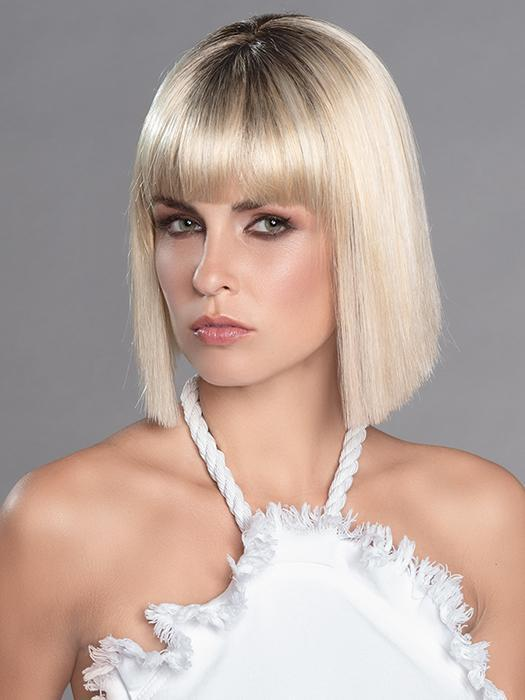Cri Wig by Ellen Wille is a chic bob with a full fringe and blunt-cut ends