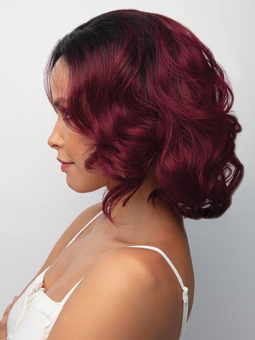 PASSION by Rene of Paris in PLUM-DANDY | Blend of Burgundy and Subtle Plum with Dark Brown Roots