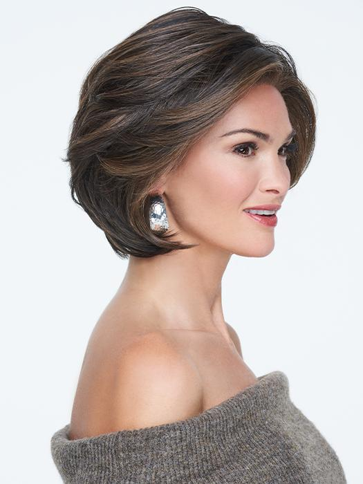 A stacked bob with multi-layering throughout