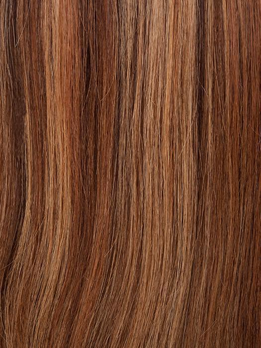 P4/27/30 | Medium Dark Brown, Honey Blonde, and Copper Blonde Mixed
