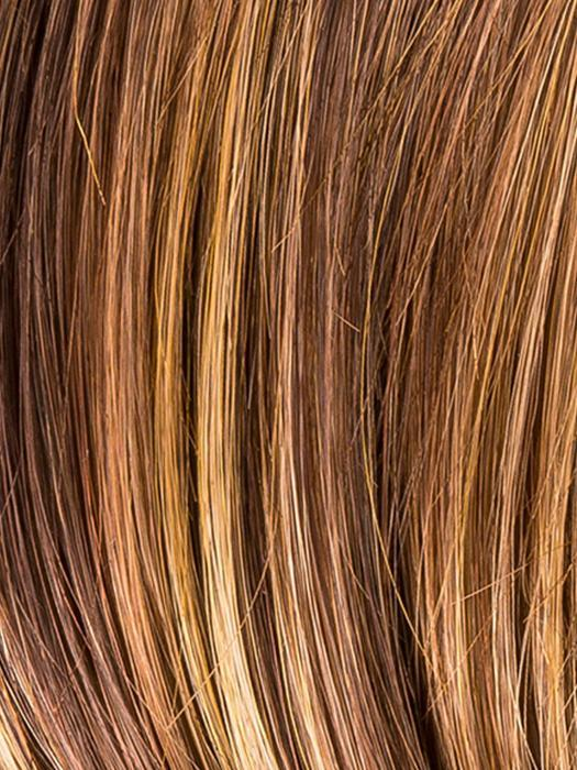HAZELNUT MIX 33.27.6 | Medium Brown Base with  Medium Reddish Brown and Copper Red Highlights