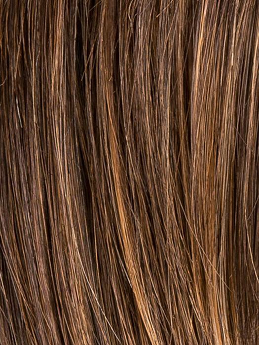CHOCOLATE ROOTED 830.27.6 | Medium to Dark Brown base with Light Reddish Brown highlights and Dark Roots