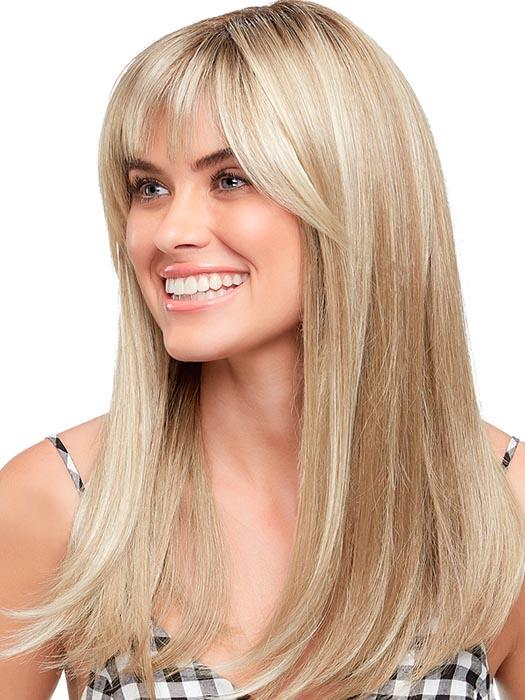 CAMILLA by JON RENAU in 22F16S8 VENICE BLONDE | Lt Ash Blonde & Lt Natural Blonde Blend, Shaded w/ Med Brown