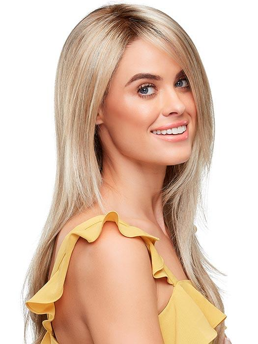 A layered and natural looking hair style with softly feathered ends